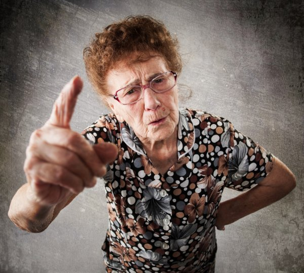 Depositphotos 66936353 Stock Photo Scolded The Old Woman