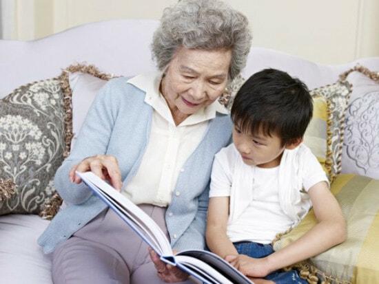 奶奶孙子示意图