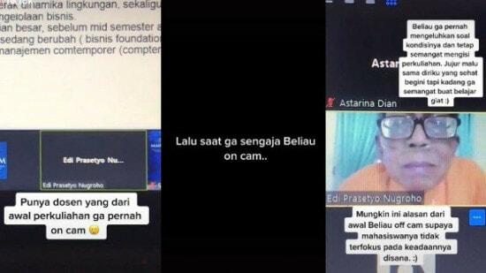 Viral Kisah Dosen Selalu Mematikan Kamera Saat Mengajar Kelas Online